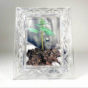 3/$25 Austrian Fine Crystal Glass photo frame